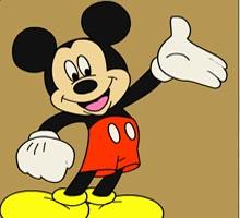 Онлайн раскраска с Мики Маусом