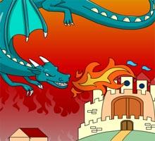 Раскраска с драконом