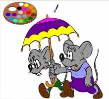 Онлайн раскраска с мышами