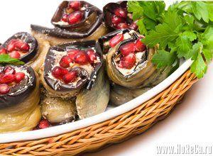 Баклажаны с орехами. Армянская кухня.
