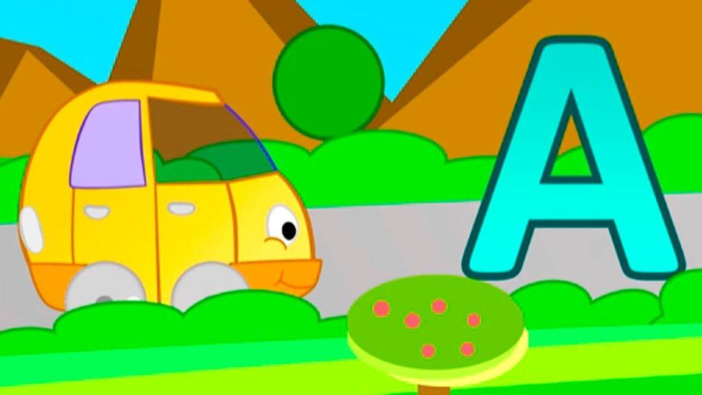 Учим буквы с весёлыми машинками