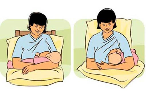 Основные позиции при кормлении грудью