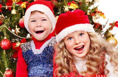 Новогодние игры для детей на празднике